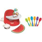 Prince Lionheart bebePOD Flex Plus Booster Seat with BONUS Infant Spoons, Watermelon