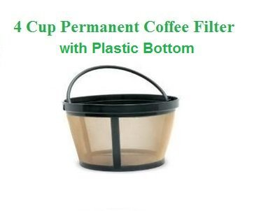 1 X 4-Cup Basket Style Permanent Coffee Filter fits Mr. Coffee 4 Cup Coffeemakers (With... by GoldTone