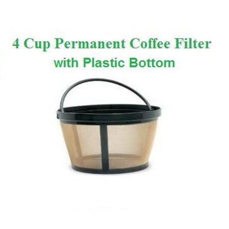 1 X 4 Cup Basket Style Permanent Coffee Filter Fits Mr