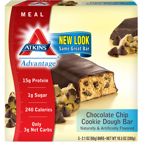 Atkins Advantage Chocolate Chip Cookie Dough, 5-Pack