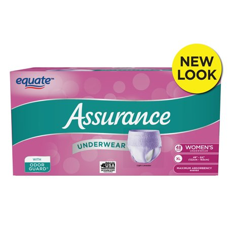 Assurance Incontinence Underwear, Women's, Size XL, 48 Ct for $<!---->