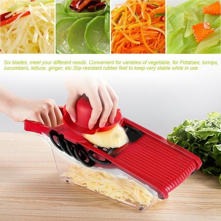 Kitchen Mandoline Slicer 5 Interchangeable Blades Vegetable Cutter Potato Grater and Food Container