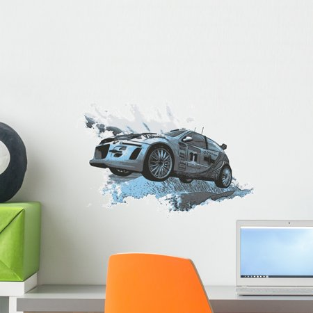 - Car Racing Wall Decal by Wallmonkeys Peel and Stick Graphic (18 in W x 12 in H) WM200400