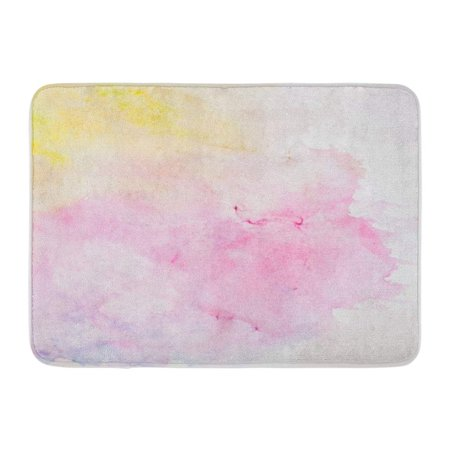 KDAGR Colorful Pastel Abstract Watercolor in Delicate Shades of Spring Colors Pink Doormat Floor Rug Bath Mat 23.6x15.7 inch