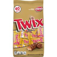 Twix Caramel and Chocolate Cookie Minis Halloween Candy Bar, 40 Ounce