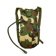2L Hydration System Climbing Survival Hiking Pouch Backpack Bladder Water Bag - Camo