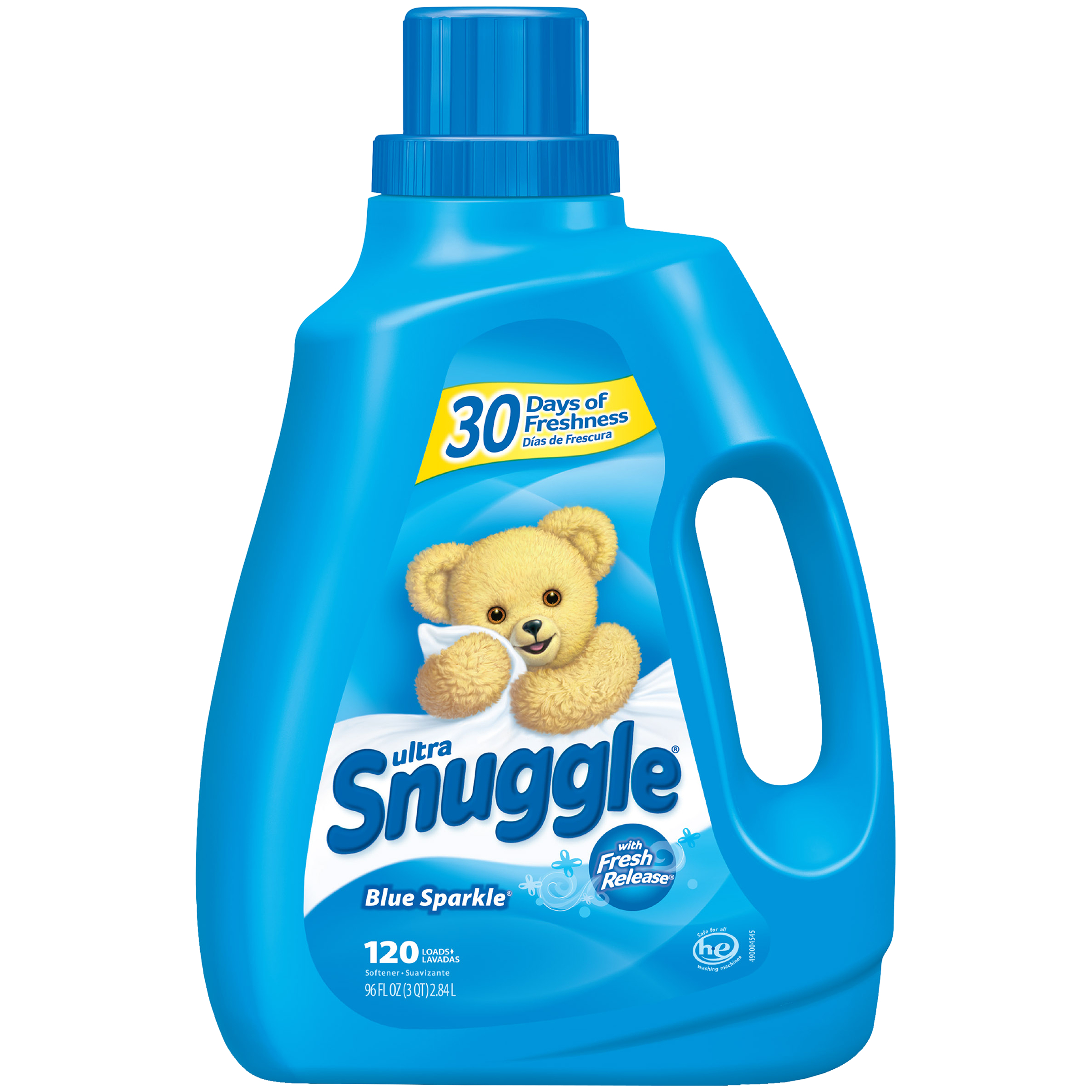 Snuggle Liquid Fabric Softener, Blue Sparkle, 96 Ounce, 120 Loads