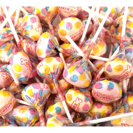 Double Lollipops - Smarties Assorted Fruit Flavored Lollipops Candy, Double Lollies Pops, Gluten-Free, Bulk 2 Pounds Bag
