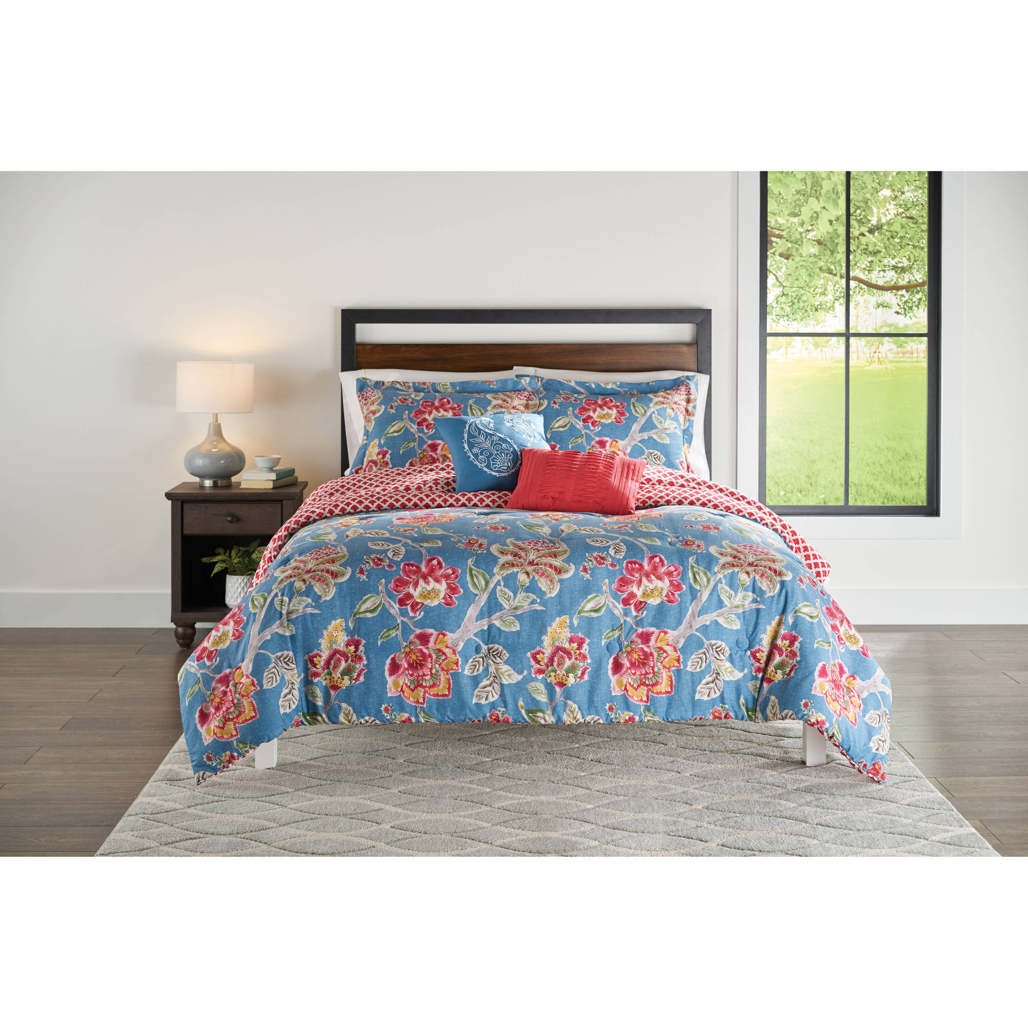 Better Homes and Gardens Floral Jacobean 5-Piece Comforter Set