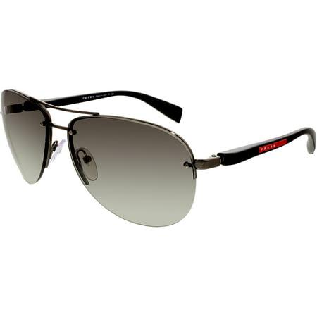 8cf18fde7a6b5 Prada - Prada Women s Gradient Linea Rossa PS56MS-5AV3M1-62 Black Aviator  Sunglasses - Walmart.com