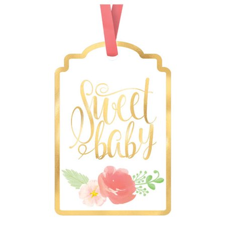 Baby Shower 'Sweet Floral' Favor Tags (25ct) Baby Shower Favor Tags