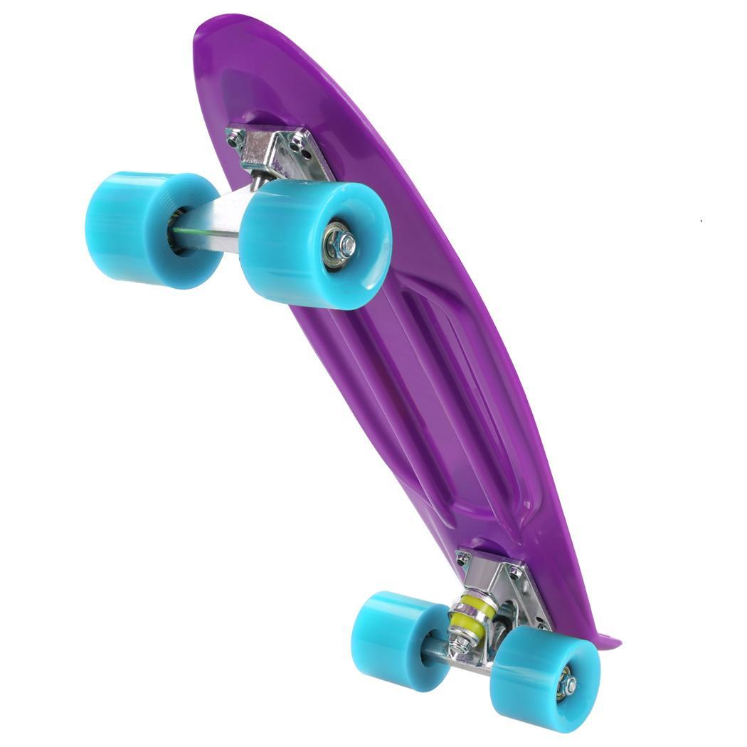 Retro Mini Cruiser 22 inch Complete Skateboard Capacity 220 pounds by