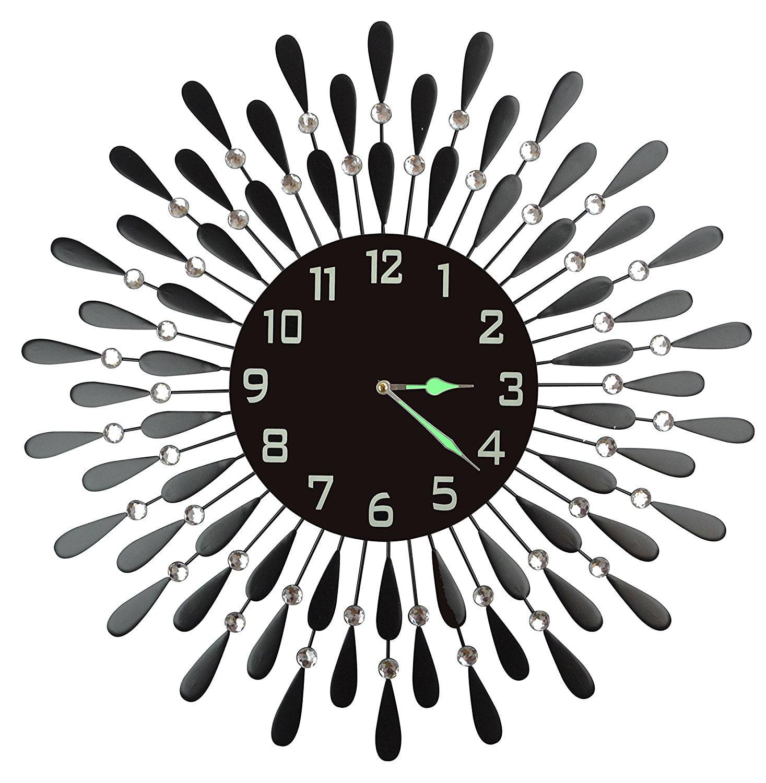 Lulu Decor Black Drop Wall Clock : Lulu decor inc on walmart seller reviews marketplace rating