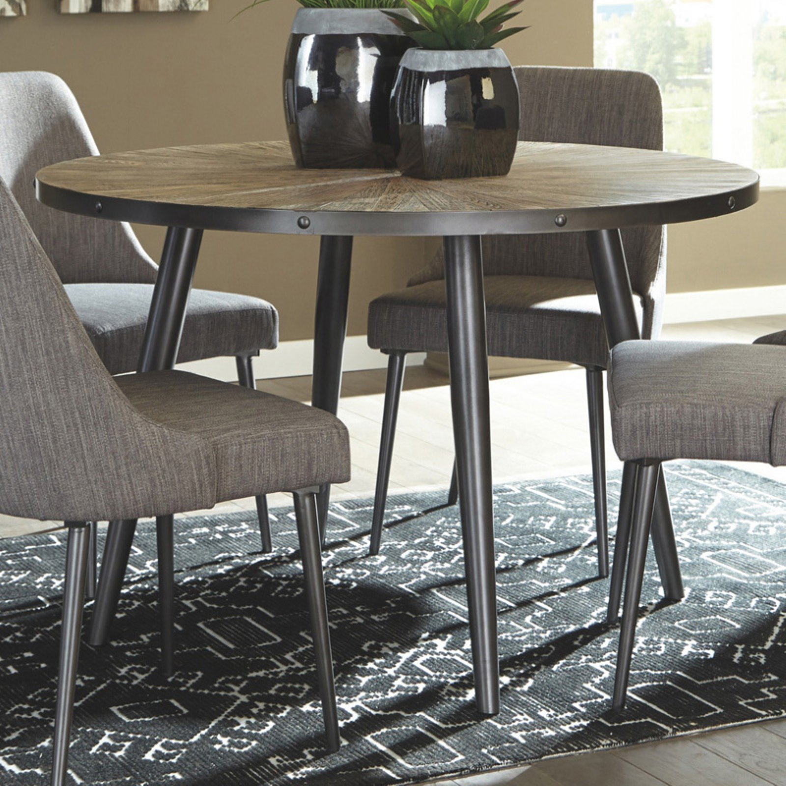 Signature Design by Ashley Coverty Round 7 Piece Dining Table Set