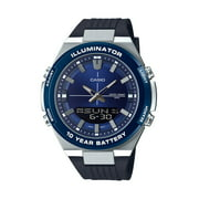 Casio Men's Analog-Digital Black and Blue Watch AMW860-2AV