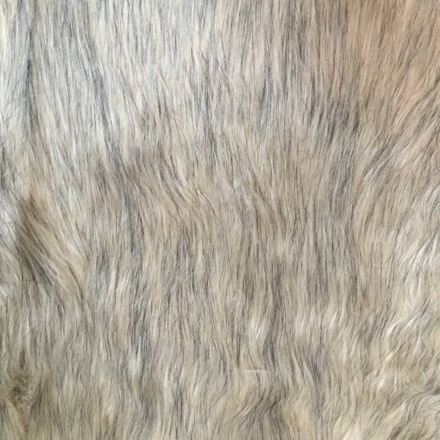 SHASON TEXTILE LUXURY FAUX FUR WOLF - LONG PILE, GRAY