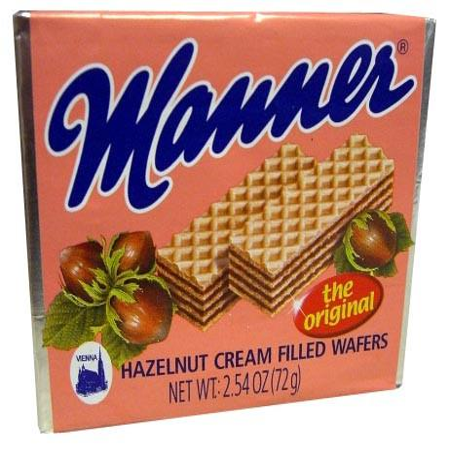 Hazelnut Cream Filled Wafers (Manner) - Cream Wafers