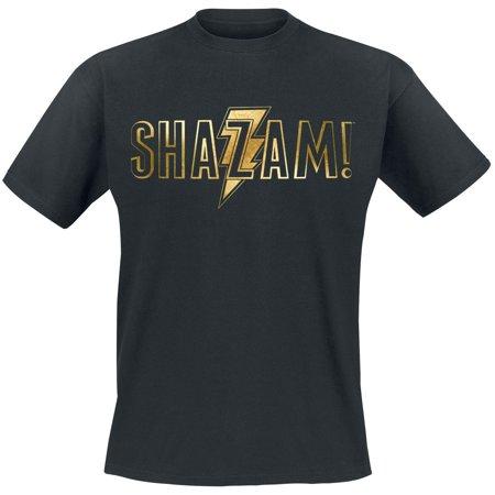 Shazam Unisex Adults Gold Foil Logo Print T-Shirt - image 2 of 2