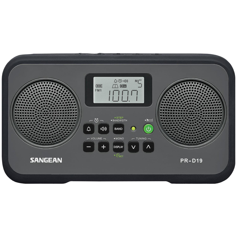 Sangean PR-D19BK AM FM Digital Stereo Portable Radio by Sangean