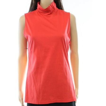 Ralph Lauren Mock Neck - Lauren Ralph Lauren NEW Pink Coral Women's Size XL Mock Neck Knit Top