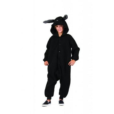 Wooly Black Sheep Funsie Costume - Sheep Costume Makeup