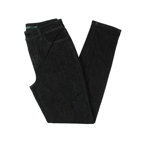 Lauren Ralph Lauren Womens Curvy Fit Classic Rise Skinny Crop Jeans