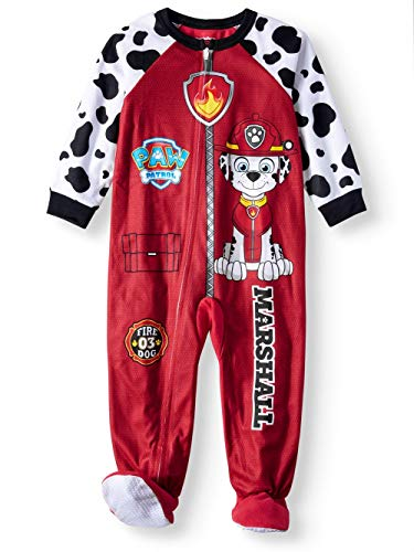 Paw Patrol Toddler Boys Footed Pajamas Blanket Sleeper Marshall All Gang (5t, All Gang - Blue)