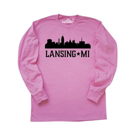 Lansing Michigan City Skyline Long Sleeve T-Shirt