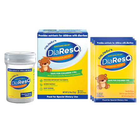 Childrens DiaResQ Soothing Relief Fast Diarrhea Relief for Kids 3 Countt