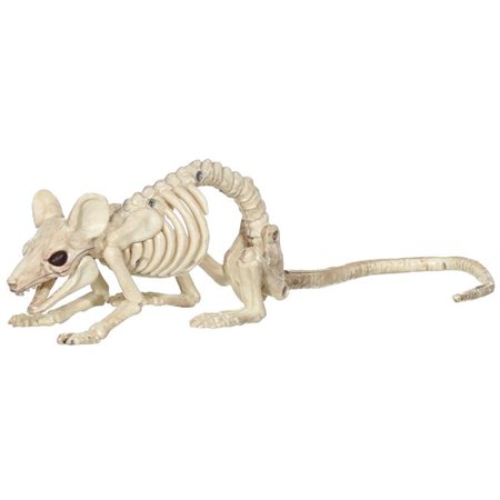 Mouse Crawling Skeleton Halloween Decoration, Natural Bone