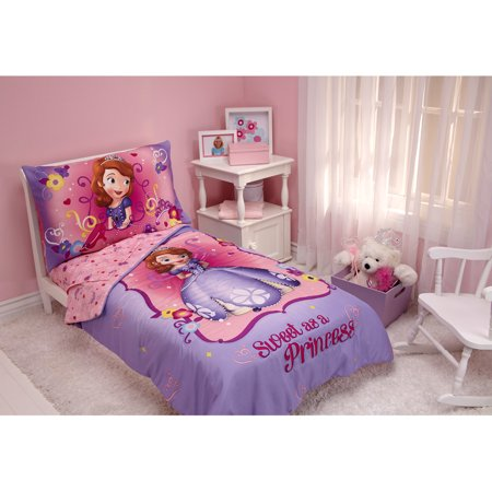 Sofia The First Throw And Pillow Set : Disney Sofia the First 3pc Toddler Bedding Set with BONUS Matching Pillow Case - Walmart.com