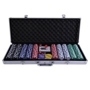 500pcs Poker Party Dice Chip Set Cards Fun Gambling Game With Aluminum Case by