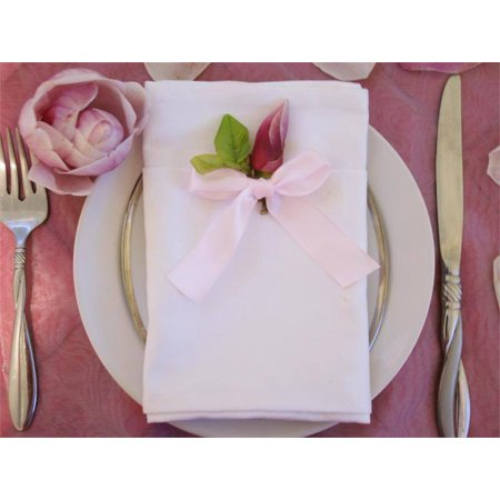 Efavormart 5 PCS Wholesale White Chambury Casa Premium Cotton Napkins For Wedding Birthday Party Tableware - 20x20