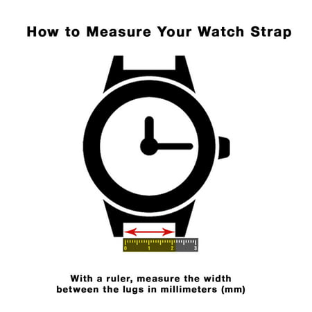 20mm Mens' Alligator Style Leather Watch Band Strap, Glossy Finish, Stainless Steel Buckle - image 3 de 7