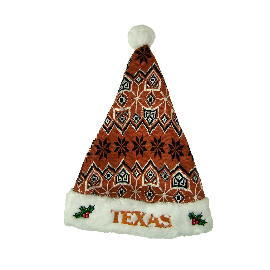 Texas Longhorns Official NCAA 17 inch Knit Christmas Santa Hat by Forever Collectibles by Forever Collectibles