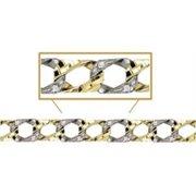 Sindbad Jewelry BR150CZ-2T-8.25 10 Kt Round Gold Yellow & White Casting Bracelet