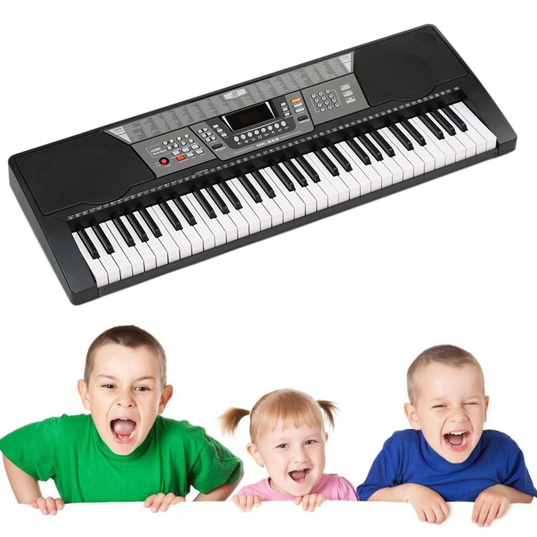 61 Keys Electronic Piano Electric Organ Keyboard Black US...