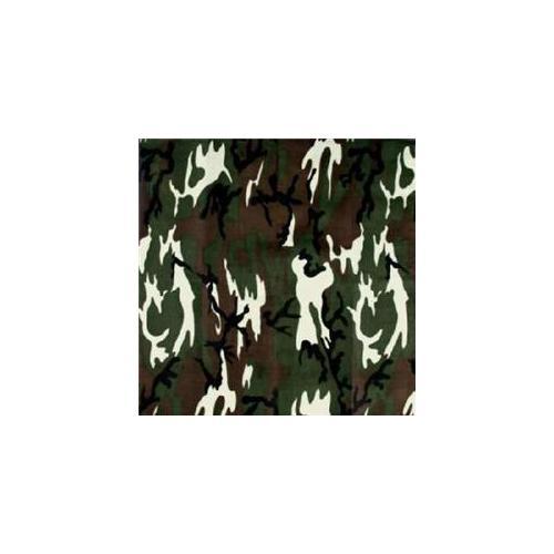 Bulk Buys Army Camo Bandanas - Dozen Packed 22x22 - Case of 12