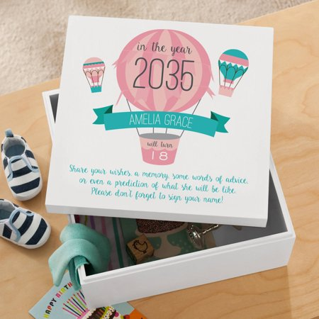 Personalized New Baby Time Capsule Keepsake Box