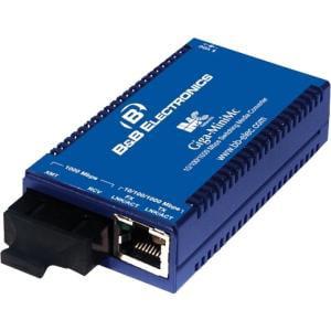 B+B Smallest, Most Reliable Gigabit Switching Media Converter - 1 x Network (RJ-45) - 1 x SC Ports - Multi-mode - Gigabit Ethernet - 1000Base-TX, 1000Base-SX - External, Rail-mountable, Wall Moun