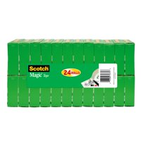 "Scotch Magic Tape Value pack 3/4"" x 1000"" per Roll, Clear, 24 Rolls"