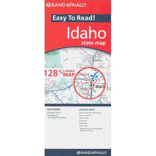 Rand McNally Easy to Read! Idaho State Map