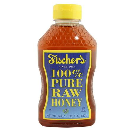 Fischer's 100% Pure Raw Honey, 24 Oz  Bottle