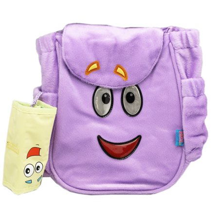 Dora the Explorer Small Kids Backpack Knapsack w/Map (10in) (Explorer Board Bag)