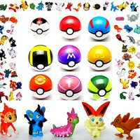 9Pcs Cosplay Ball with 9 Figures for Your Pokemon Inspired Collection - Perfect Gift for Pokemon Fans, Birthday, and Kids!