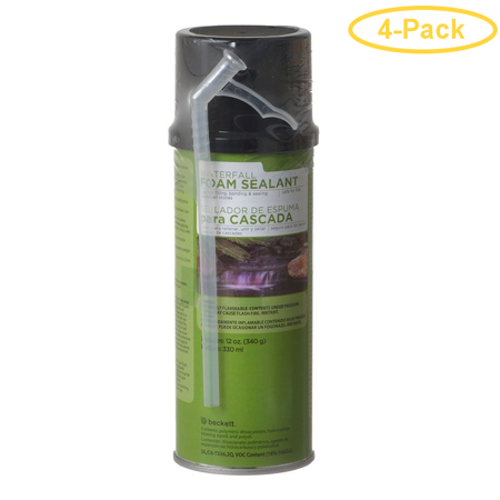Beckett Waterfall Foam Sealant - Black 12 oz - Pack of 4