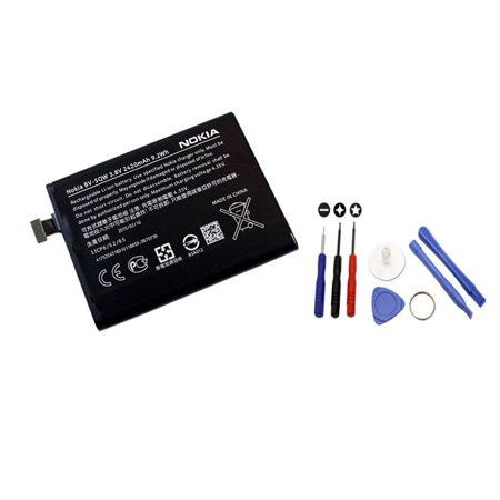 Original Nokia Battery Bv 5Qw Bv5qw For Nokia Lumia 930 2420Mah With Pne Tool Kit   100  Oem   Brand New In Non Retail Packaging