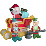 Gemmy Industries Airblown Inflatables Christmas Animated Santa With Sleigh Decoration