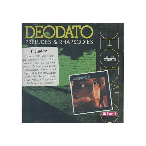 2 LPs on 1 CD: PRELUDES (1973)/DEODATO 2 (1973).<BR>Personnel includes: Eumir Deodato (arranger, piano, electric piano, keyboards); Joe Temperley (baritone saxophone); Hubert Laws, Phil Bodner, George Marge, Romeo Penque, Jerry Dodgion (flute); John Tropea, Jay Berliner (guitar); Ron Carter (acoustic & electric basses); Stanley Clarke (electric bass); Billy Cobham (drums); Airto Moreira, Ray Barretto (percussion).<BR>Recorded at Van Gelder Studios, Englewood Cliffs, New Jersey in September 1972 and April-May 1973. Originally released on CTI (6021) and CTI (6029).<BR>Includes liner notes by Ian McFarlane.<BR>All tracks have been digitally remastered.