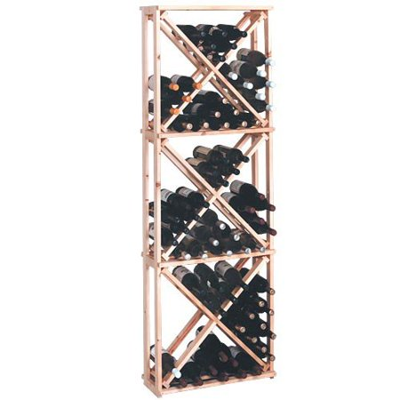 Country Pine Series 132-Bottle Open Diamond Cubes Wine Rack